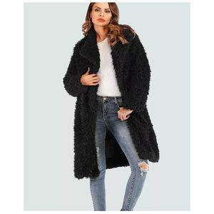 🆕Black Shaggy Faux Fur Jacket